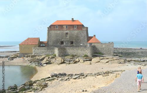 Canvas Print le Fort d'Ambleuse à maree basse