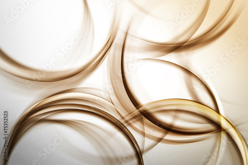 Naklejki na meble brązowe abstrakcyjne pierścienie