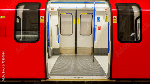 Inside view of London Underground, Tube Station #75394934