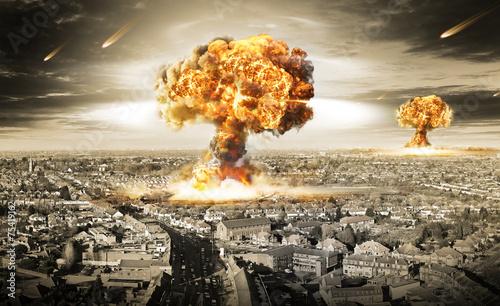 Canvas Print Nuclear War