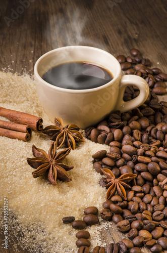 caffè caldo e aromi #75552757