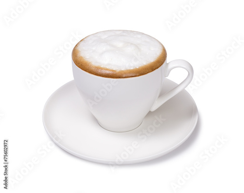 Canvas-taulu cup of cappuccino isolated
