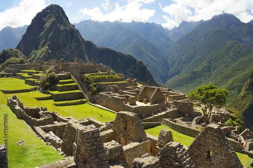 Photo Ancient Inca ruins of Machupicchu