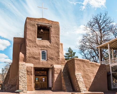 Fototapeta premium Kościół San Miguel, Santa Fe, Nowy Meksyk