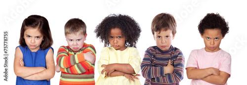 Fotografia Five angry children