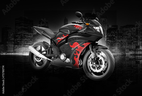 Motorcycle Motorbike Bike Riding Rider Contemporary Concept #75780714