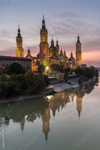 Canvas Basilica de Nuestra Senora del Pilar in Zaragoza