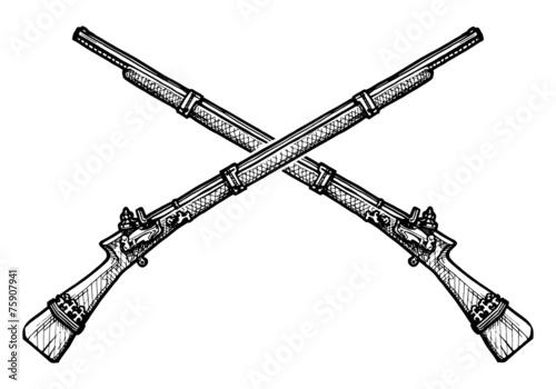 Fototapeta old musket