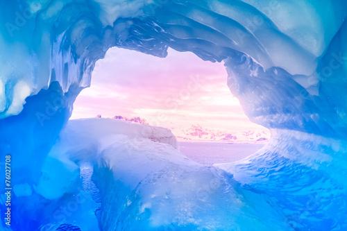 Fotografia, Obraz blue ice cave