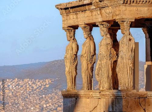 Photo Caryatides, Acropolis of Athens