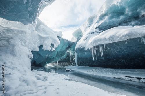 Inside the glacier Fototapet