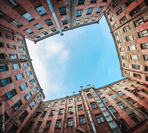 Court yard-well in Saint-Petersburg