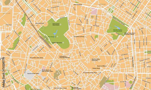Photo Milano city vector map