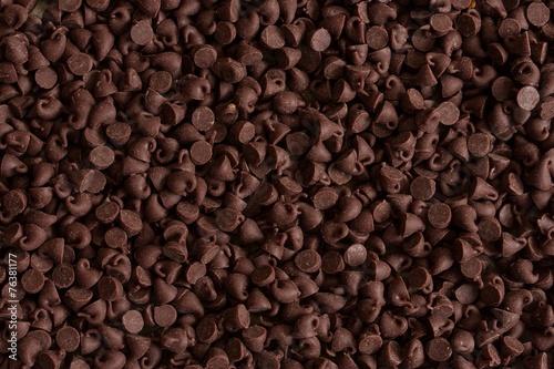 Obraz na plátně Chocolate chips food background