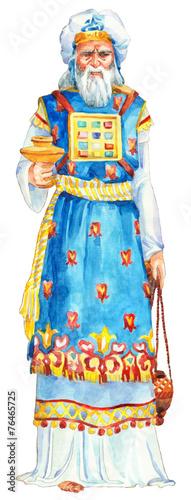 Fotografie, Tablou Watercolor sketch of series Characters of Palestine. Priest