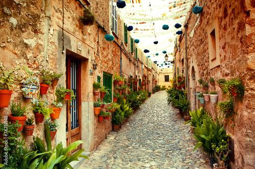 Fotografie, Obraz Street in Valldemossa village