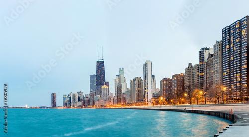 Fototapeta premium Chicago Panorama Lake Michigan