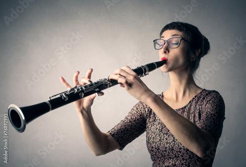 Fotografie, Obraz Clarinet player