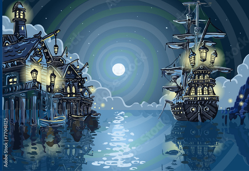 Obraz na płótnie Adventure Island - Pirates Cove Bay