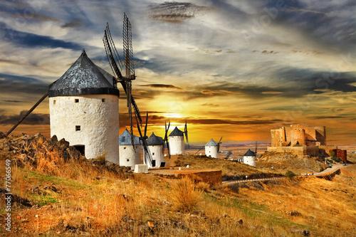 Fotografia windmils of Spain, Castilla la mancha