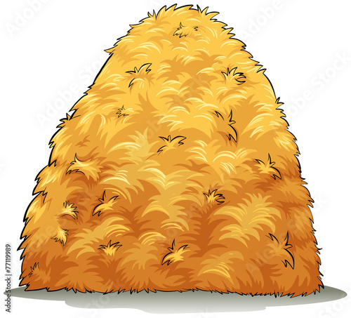 Wallpaper Mural An image showing a haystack