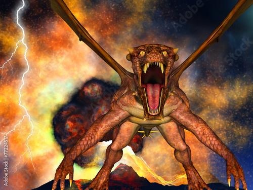 Wallpaper Mural Dinosaur doomsday