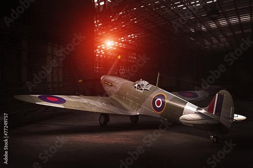 Obraz na płótnie Spitfire Mk.V - modelled in 3D