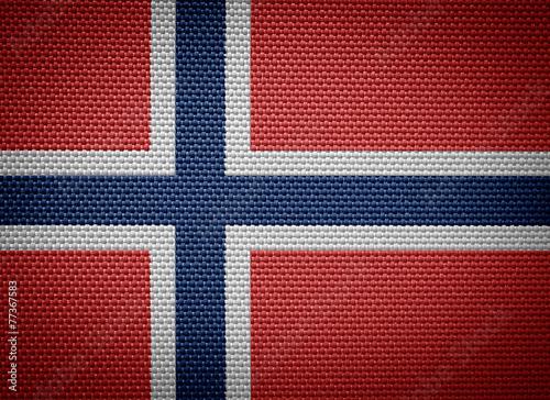 Fototapeta The Kingdom of Norway fabric flags