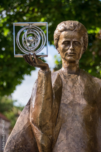 Marie Curie statue in Warsaw, Poland