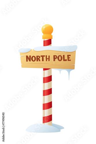 Fototapeta North Pole Sign
