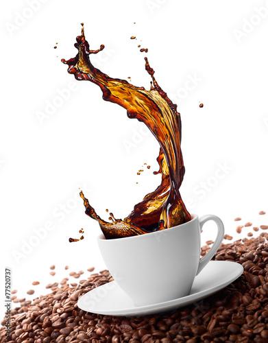 splashing coffee #77520737