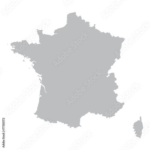 grey map of France Fototapeta