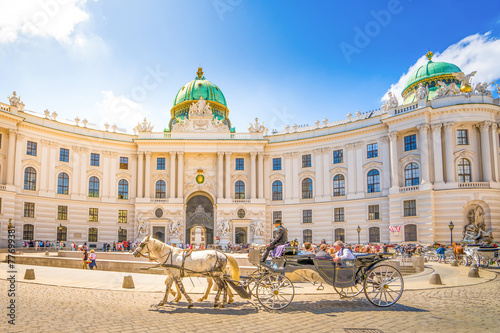 Fototapeta premium Stary Hofburg w Wiedniu