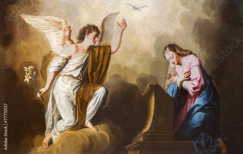 Fototapeta premium Wiedeń - Malowanie Zwiastowania w prezbiterium kościoła Salezjańskiego