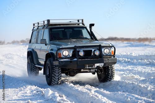 Winter SUV ride #77741512
