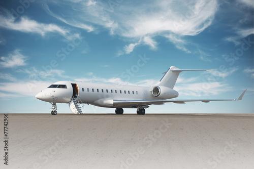 Obraz na plátně Business jet plane on the ground.