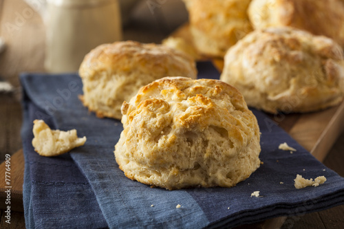 Fototapeta Homemade Flakey Buttermilk Biscuits