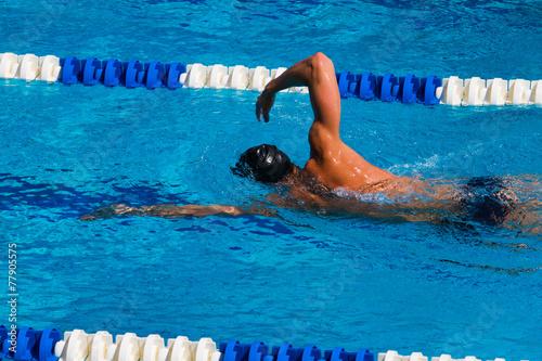 Canvas Print Swimming - Stock Image