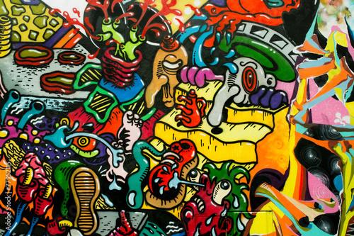 Lerretsbilde graffiti art urbain