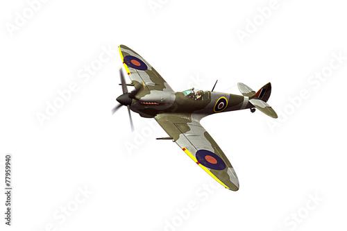 Fotografia Supermarine Spitfire isolated on white background