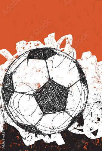 Obraz premium Piłka nożna piłka tło