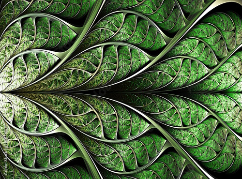 abstract plant background, fractal illustration