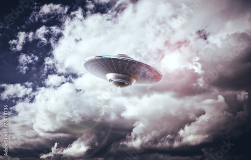 Canvas Print UFO in the sky