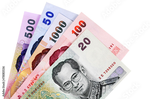 Fototapeta Thai Baht currency bills