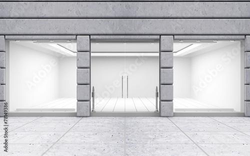Modern Empty Store Front with Big Windows Fototapeta