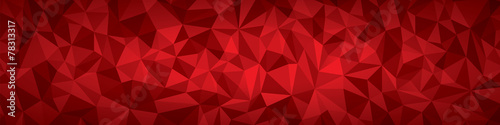 Fotografie, Tablou Abstract vector geometry background, red planes panorama