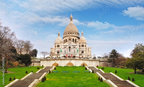Canvas Print Basilica of Sacre-Coeur in Montmartre, Paris