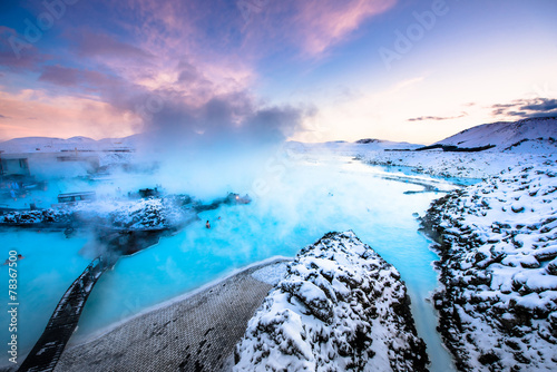 Photo The famous blue lagoon near Reykjavik, Iceland