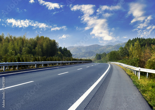 Fotografie, Tablou Newly built highway