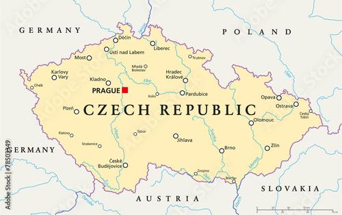 Photo Czech Republic Political Map